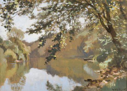 Emile WEGELIN (1875-1962). L'étang à la...