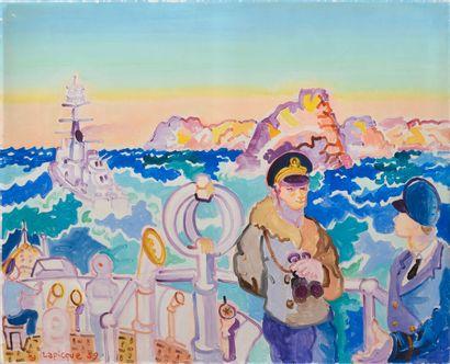 Charles LAPICQUE (1898-1988).  Manoeuvres...