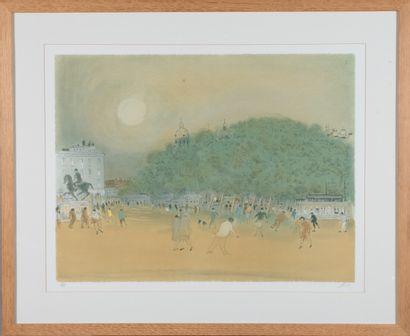 Jean Fusaro (né en 1925).  La place Bellecour....