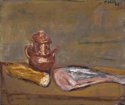 Erich Schmid (1908-1984).  Le poisson, 1973....