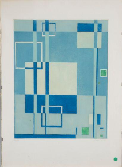 Mario RADICE (1898-1987).  Sans titre.  Sérigraphie...