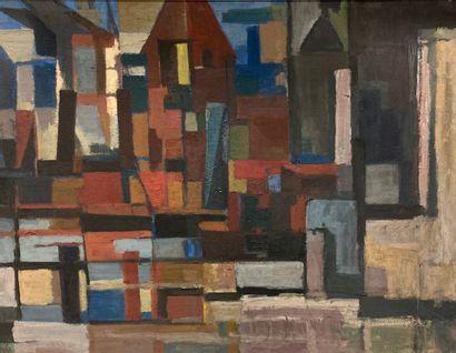 Henry Caillet (1897-1957)  Ville abstraite...