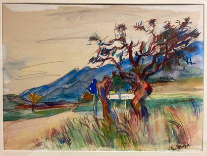 Bob Ten Hoope (1920-2014).  L'arbre rouge....