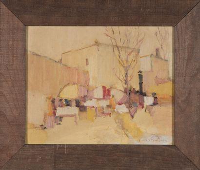 Augustin COSTINESCU (né en 1943).  Le marché....