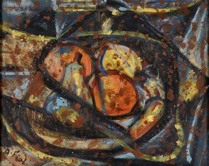 André Fiol (1915-1999).  Nature morte.  Huile...