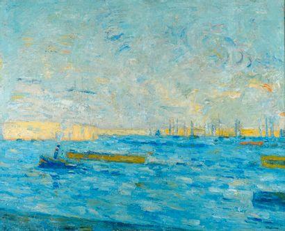 Jacques Truphémus (1922-2017).  Port d'Amsterdam,...