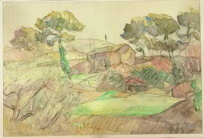 Georges Albert TRESCH (1881-1948).  Mas provençal...