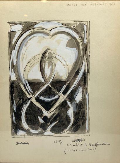 Jean Chevalier (1913-2002).  Motif de la...