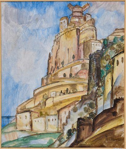 Henry DE WAROQUIER (1881-1970).  Village...