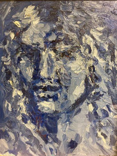 Rémy DURIER (né en 1957).  Portrait de femme....