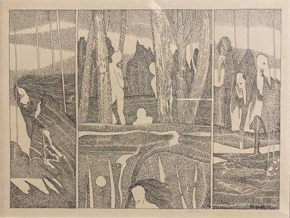 Mignot (XXème siècle).  Sans titre, 1977....