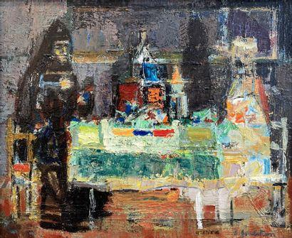 Crikor Garabetian (1908-1993).  Le repas....