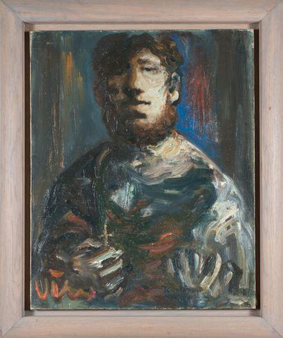 Sylvain VIGNY (1903-1970).  Portrait d'homme...