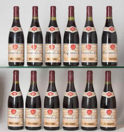 12 B CHÂTEAUNEUF DU PAPE Rouge (5 e.l.a;...