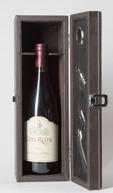 1 B CÔTE-RÔTIE (Coffret cuir avec panoplie...