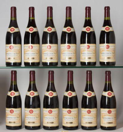 12 B CHÂTEAUNEUF DU PAPE Rouge (1 e.l.a;...