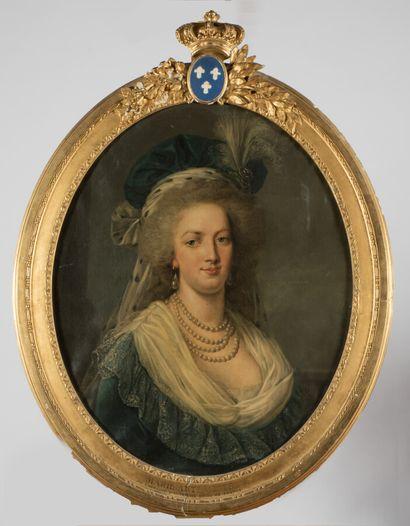 DUPLESSIS Joseph - Siffred (D'après) (Carpentras 1725 - Versailles 1802)  Portrait...