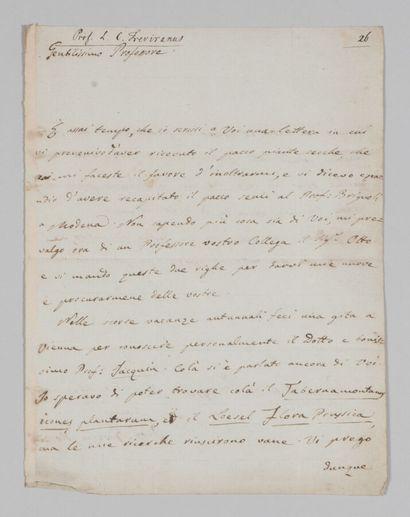 Giuseppe MORETTI (1783-1853), chimiste, botaniste...