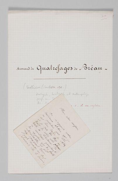 Armand QUATREFAGES DE BRÉAU (1810-1892),...