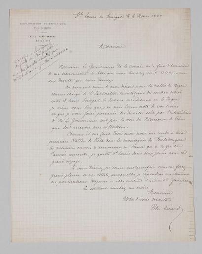 Théophile LÉCARD (?-1882), botaniste et explorateur,...