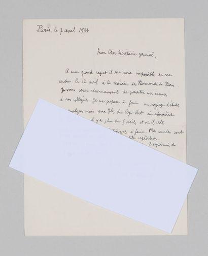 Auguste CHEVALIER (1873-1956), botaniste,...
