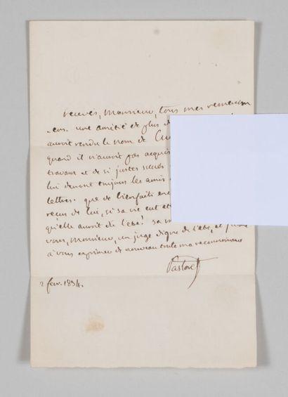 [MUSÉUM D'HISTOIRE NATURELLE]. PASTORET,...