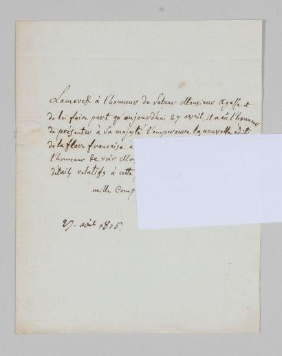 Jean-Baptiste de LAMARCK (1744-1829), naturaliste....