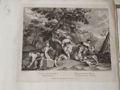 D'après Nicolas VLEUGHELS (1668 - 1737)  Jupiter...