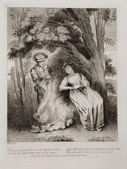 D'après Jean-Antoine WATTEAU (1684-1721)...