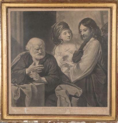 Valentine GREEN (1739-1813)  Pierre reniant...