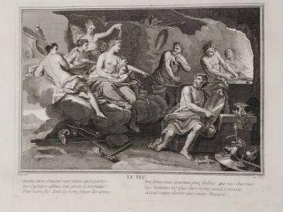 Ecole française du XVIIIe siècle  Les 4 éléments...