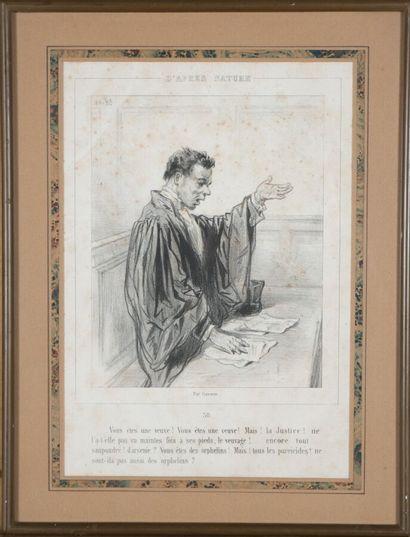 [JUSTICE] Paul GAVARNI (1804 -1866)  Avocat...
