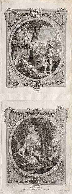 Ecole française du XVIIIe siècle  Lot de...