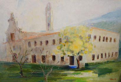 FAUCONNIER, Paysage, huile sur toile, signée...