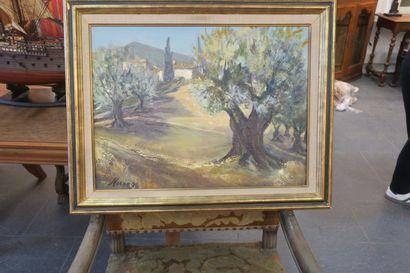 Paysage de Provence, Le Mas des Oliviers....