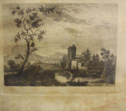 École française du XIXe siècle  Paysage....