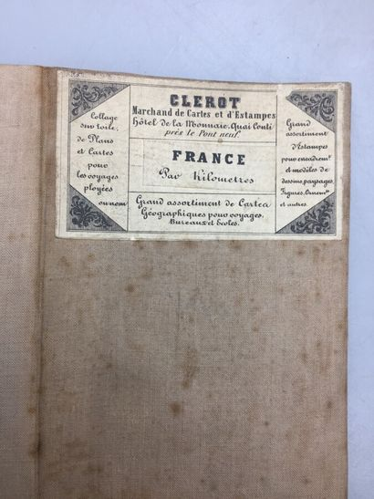 CLEROT éditeur, FREMIN géographe. Nouvelle carte postale de la République Française....