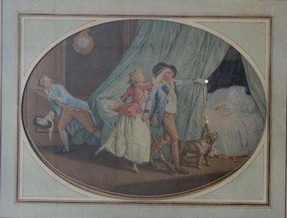 Ecole française du début du XIXe siècle  Scène...