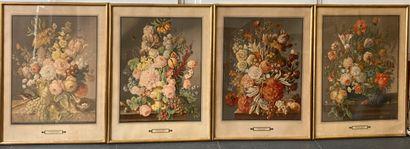Joseph NIGG (1782-1863) d'après.  Bouquets...