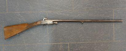 Petit fusil à un coup, à broche, canon octogonal...