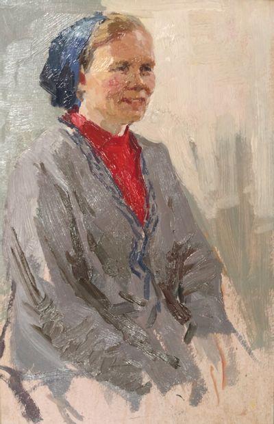 Valentin Dudin (1922-2001).  Portrait de...