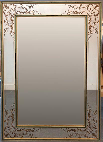 TRAVAIL FRANCAIS  Important miroir rectangulaire...