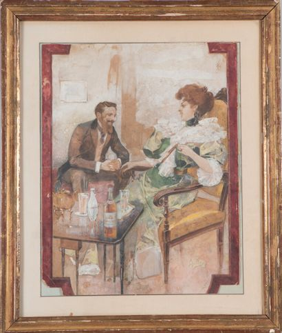 Jacques Wely (1873-1910).  Conversation galante....