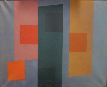 René Richetin (1923-2008)  Composition géométrique,...