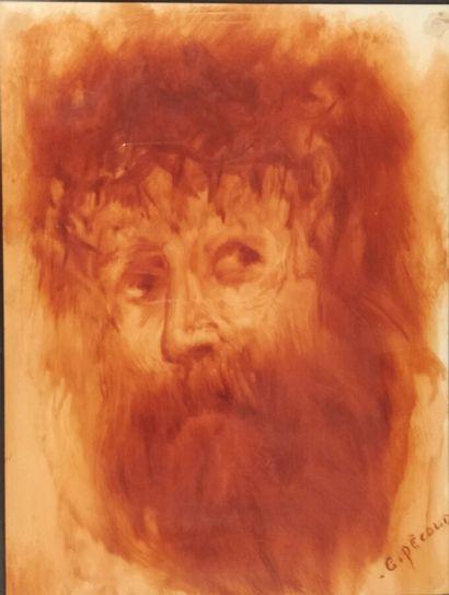 Gilbert Pecoud (né en 1951).  Portrait d'homme...