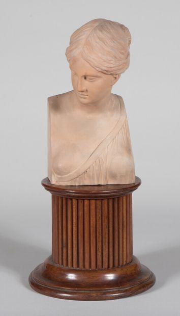 Giovanni MOLLICA (XIXe)  Buste de femme à...