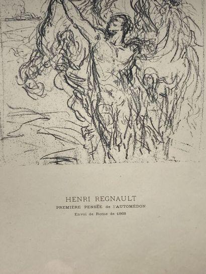 D'après Henri Regnault  Première pensée de l'Automédon.  Bel encadrement de style...