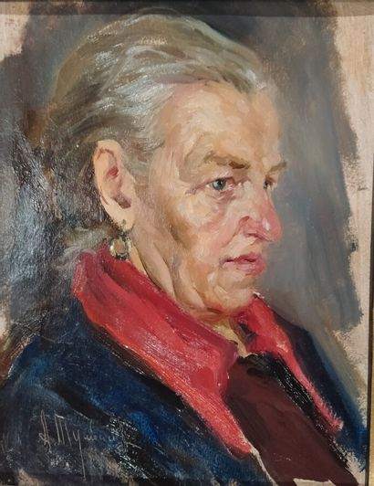 Anatoly Tumbasov (1925-2001).  Portrait de...