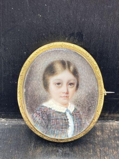 Ecole française XIXe. Portrait d'enfant....