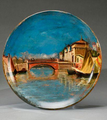 Adolphe Appian (1818-1898).  Pont rouge dans...